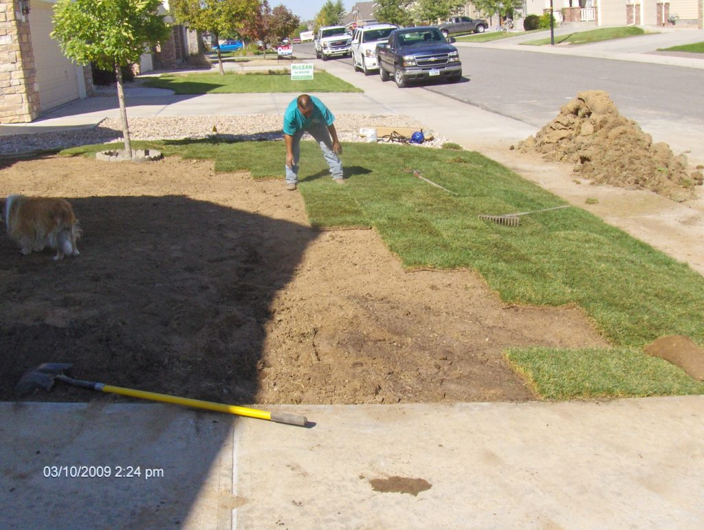 Sod Being Installed Over Geothermal Drill Site Brighton, CO 80603