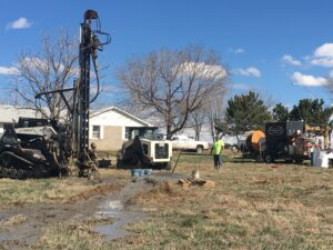 Geothermal drilling retrofit at farmhouse Fort Lupton, CO 80621