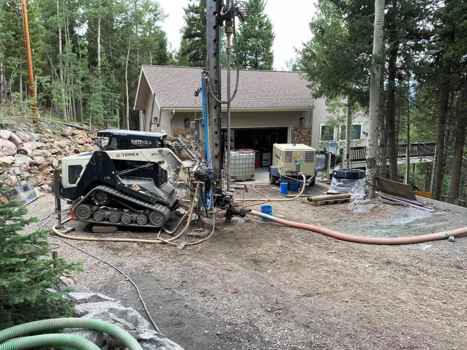 New Home Geothermal Installation, Conifer, CO 80465
